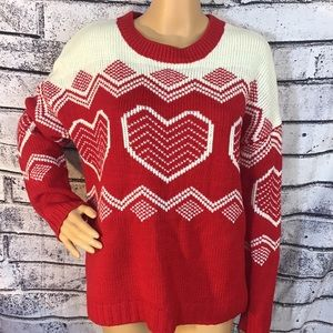 True Craft Red Pull Over Heat Sweater